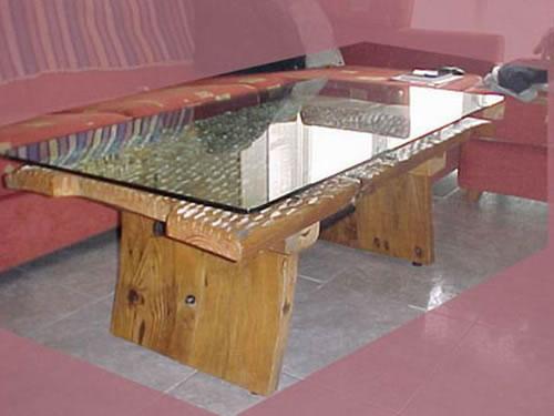 Mesa de trillo francisco treceo tornero de madera - Mesas bajas de salon ...